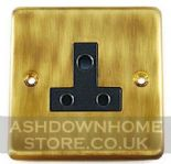 Standard Plate Antique Bronze 2 & 5 Amp Plug Sockets